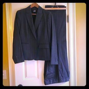 J.crew grey pinstripe suit set